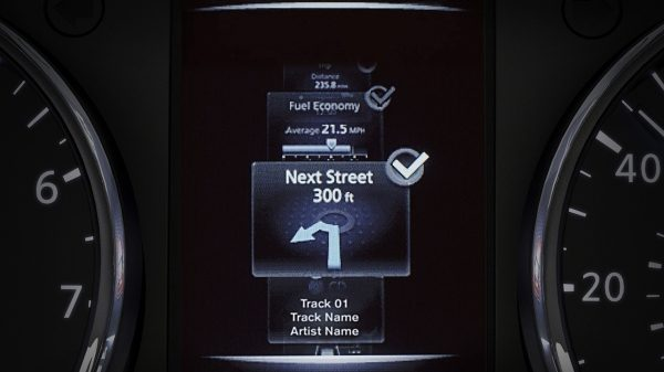 X-Trail TFT screen - Turn-by-turn directions