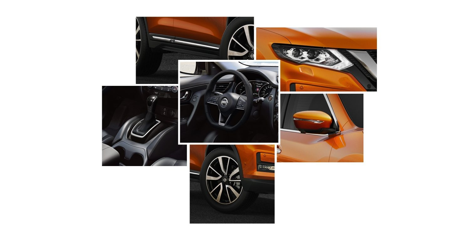 Nissan X-Trail Diseño collage