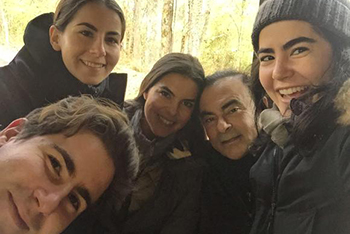 Carlos Ghosn and his four children