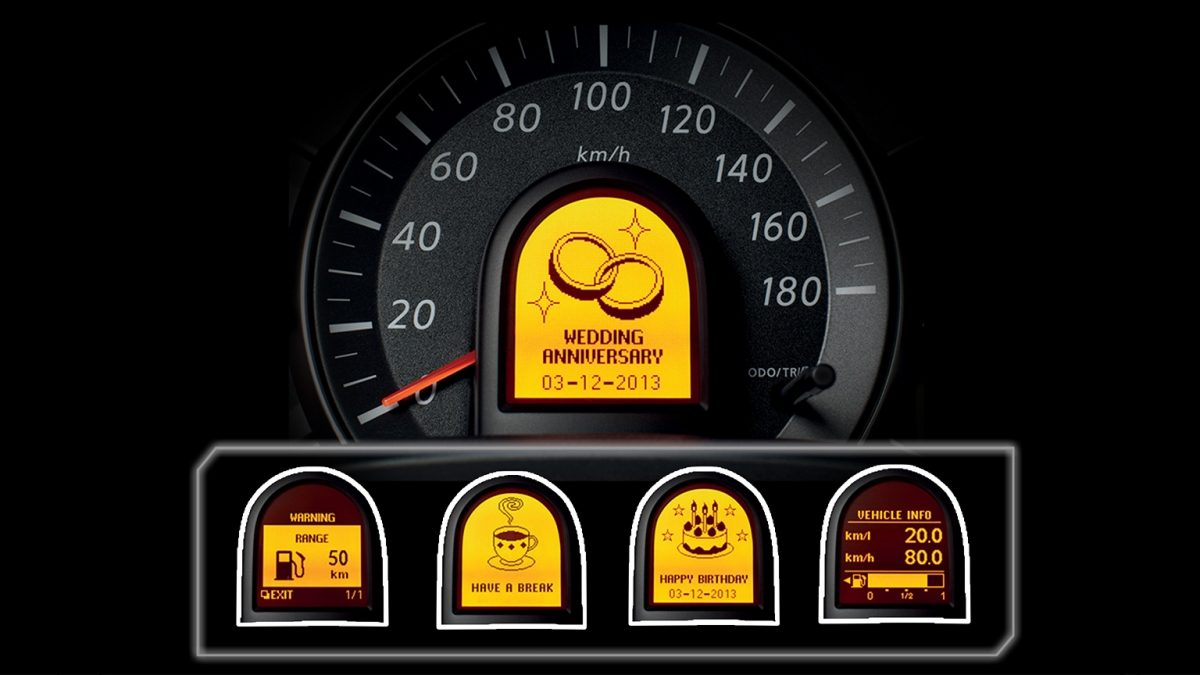 Multi Information Display Nissan March