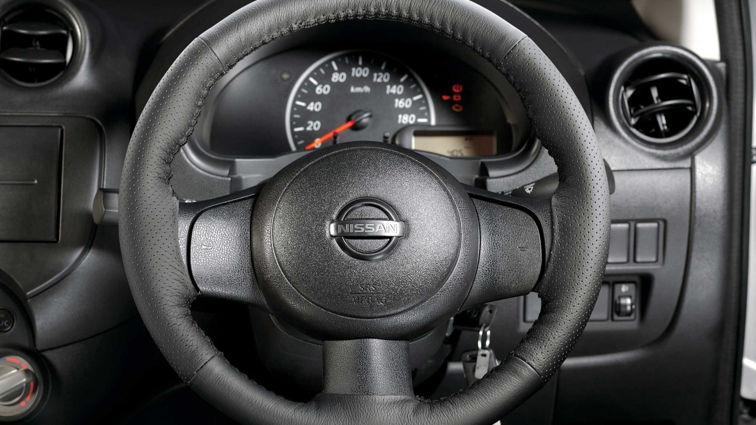 Steering Wheel Cover - Pure Leather (Black)