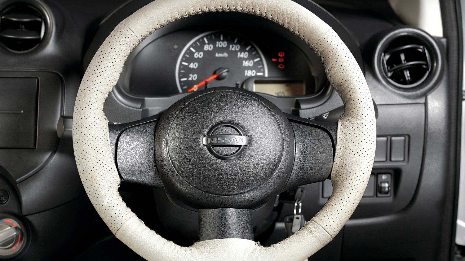 Steering Wheel Cover - Pure Leather (Whipped/Cream)