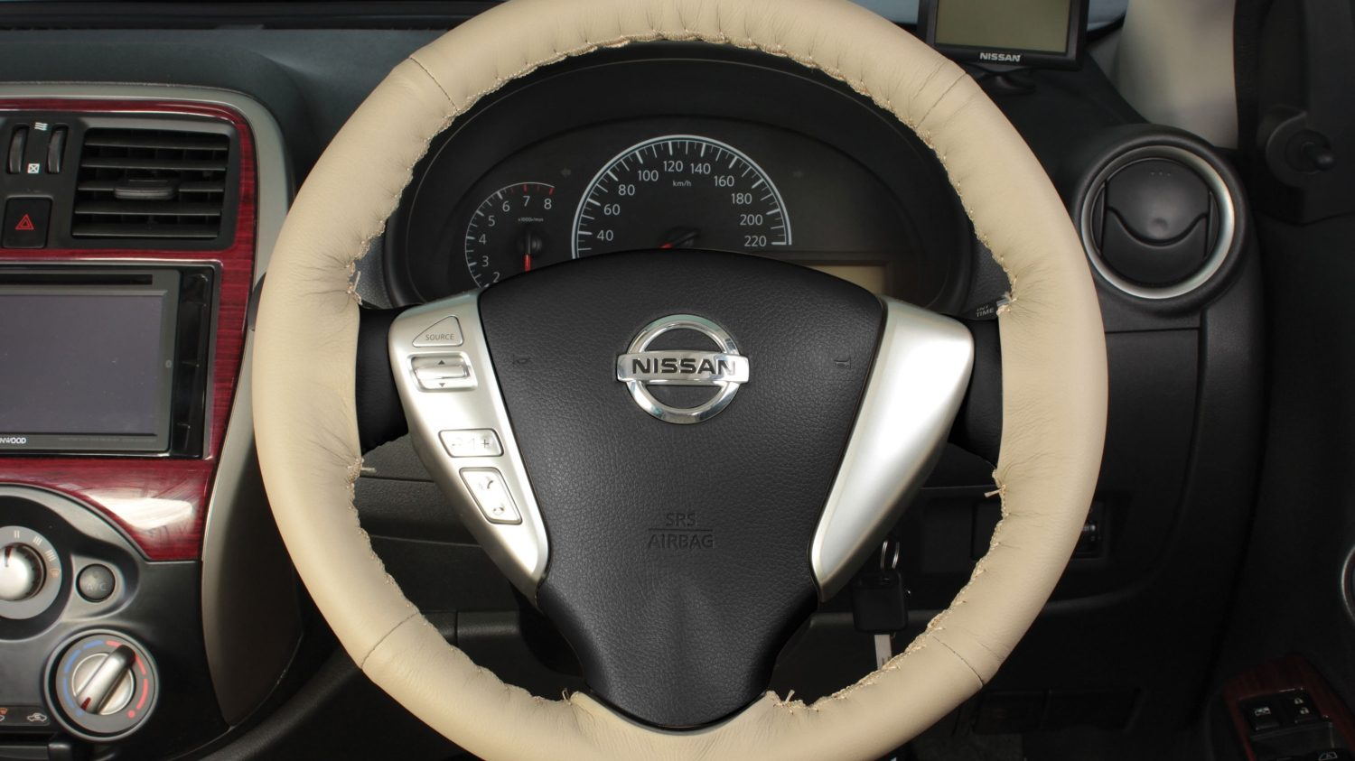 Steering Wheel Cover - Beige
