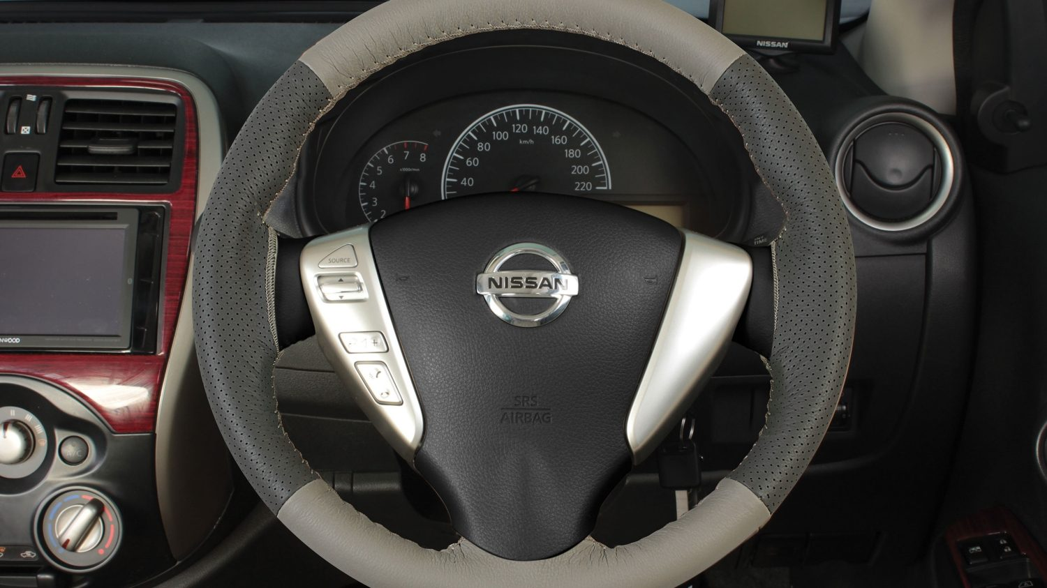 Steering Wheel Cover - Beige + Greige