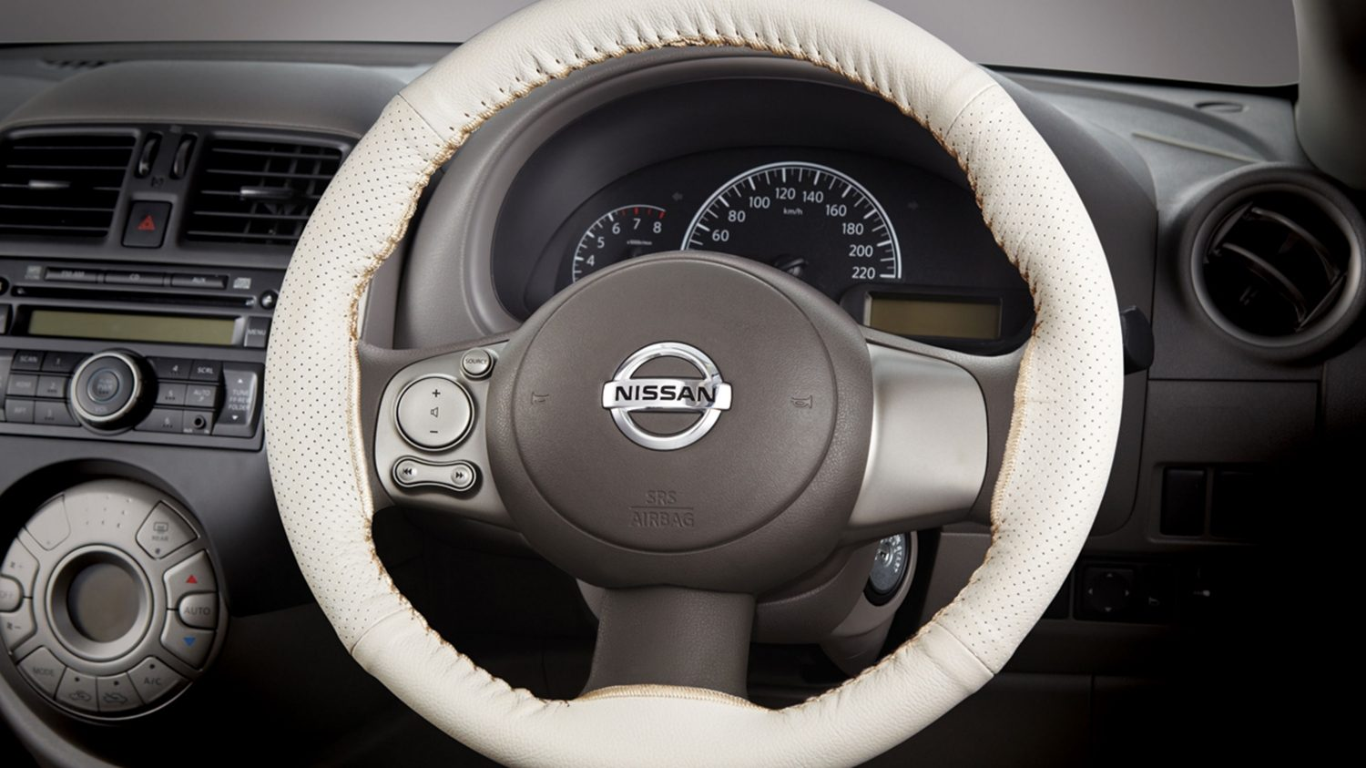 Steering Wheel Cover - Complete Beige