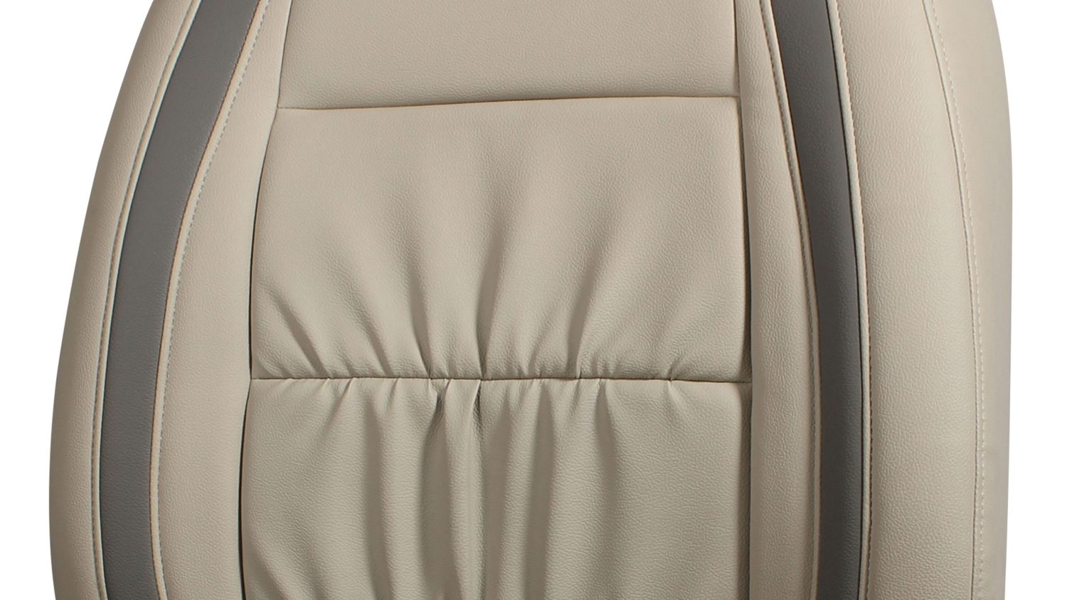 Seat Cover - Art Leather + Leather - Beige + Greige