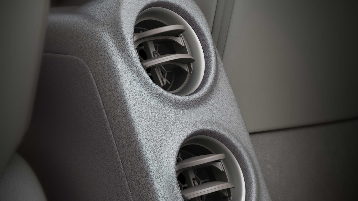 Rear center vents