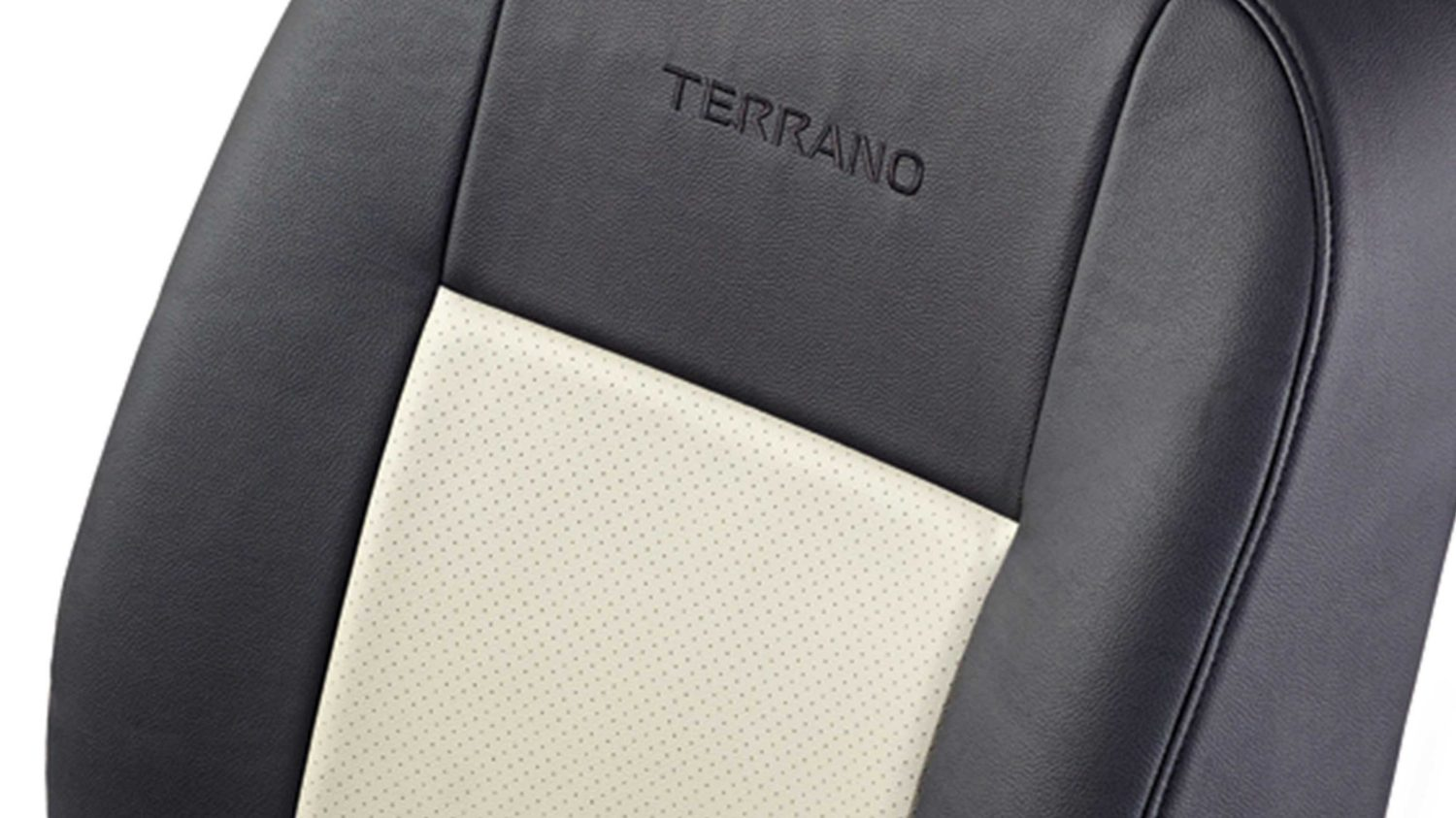 Seat Cover - Art Leather - Beige + Black