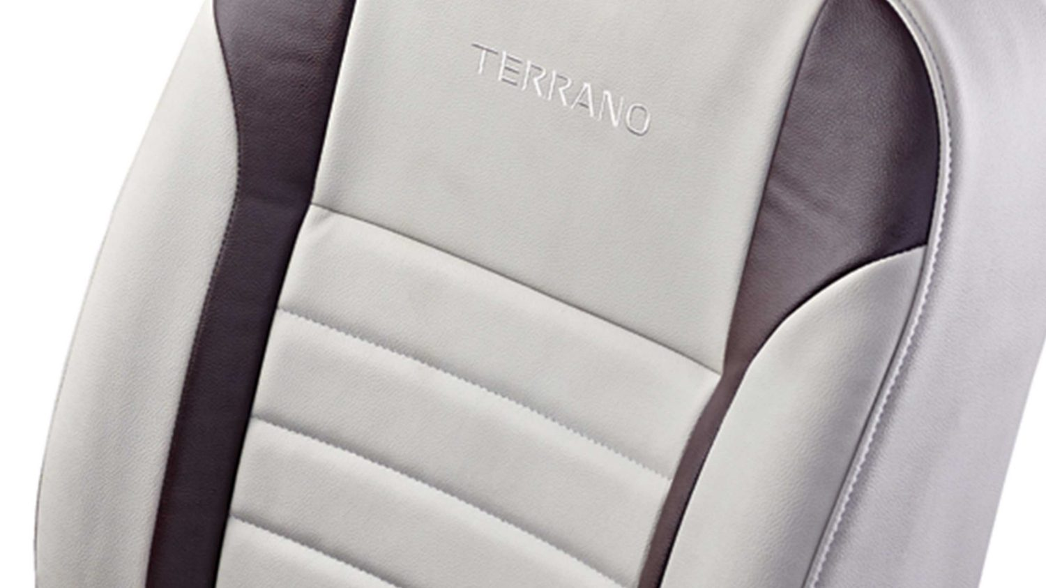 Seat Cover - Art Leather - Beige + Brown