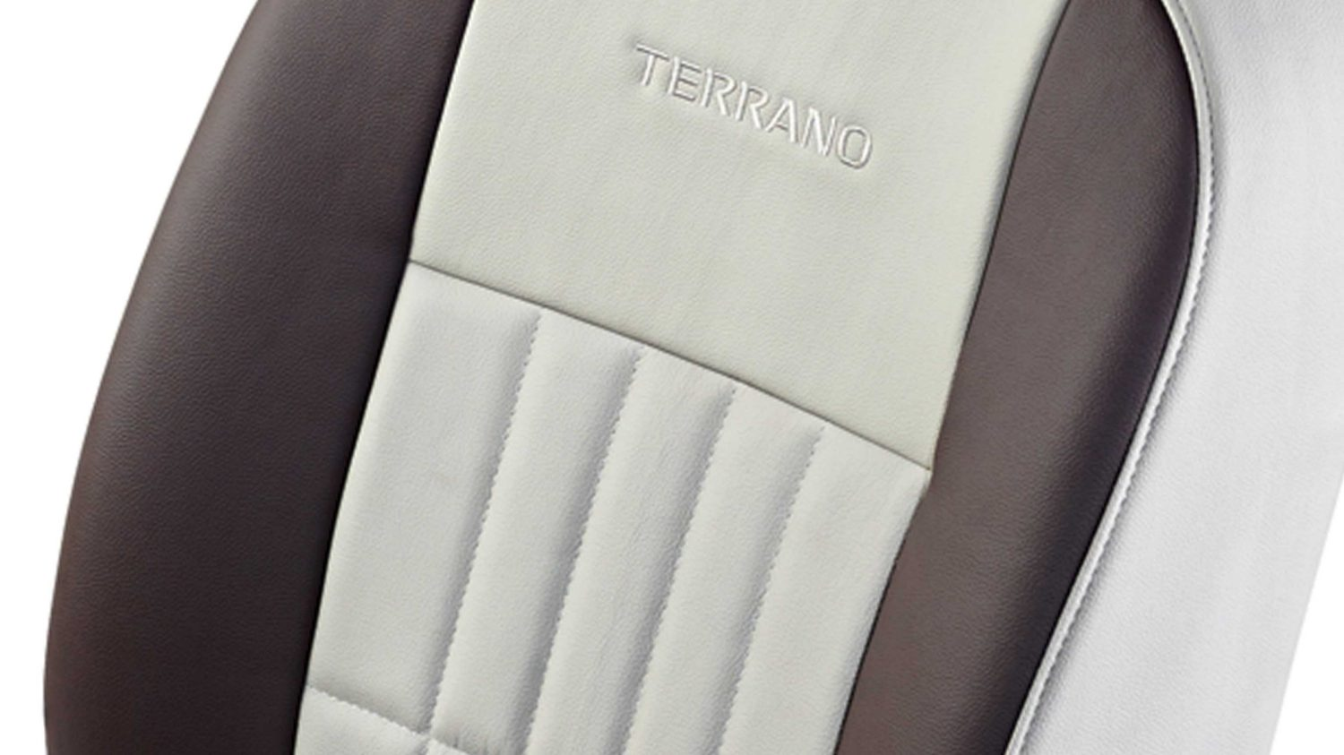 Seat Cover - Art Leather -Brown + Beige