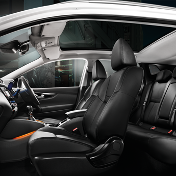 Graphite leather interior with heated front seats