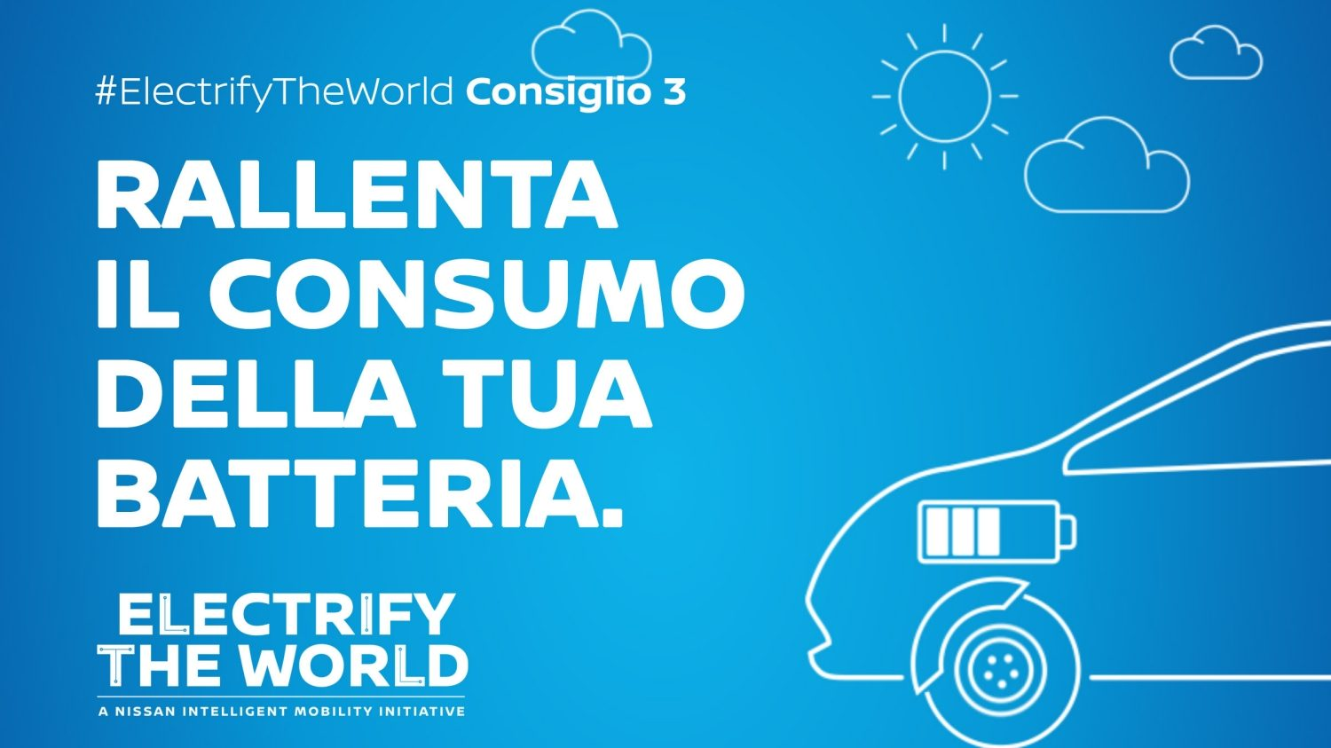 Electrify the World – Rallenta i consumi