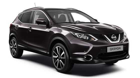 Nissan Qashqai red - 3/4 front view