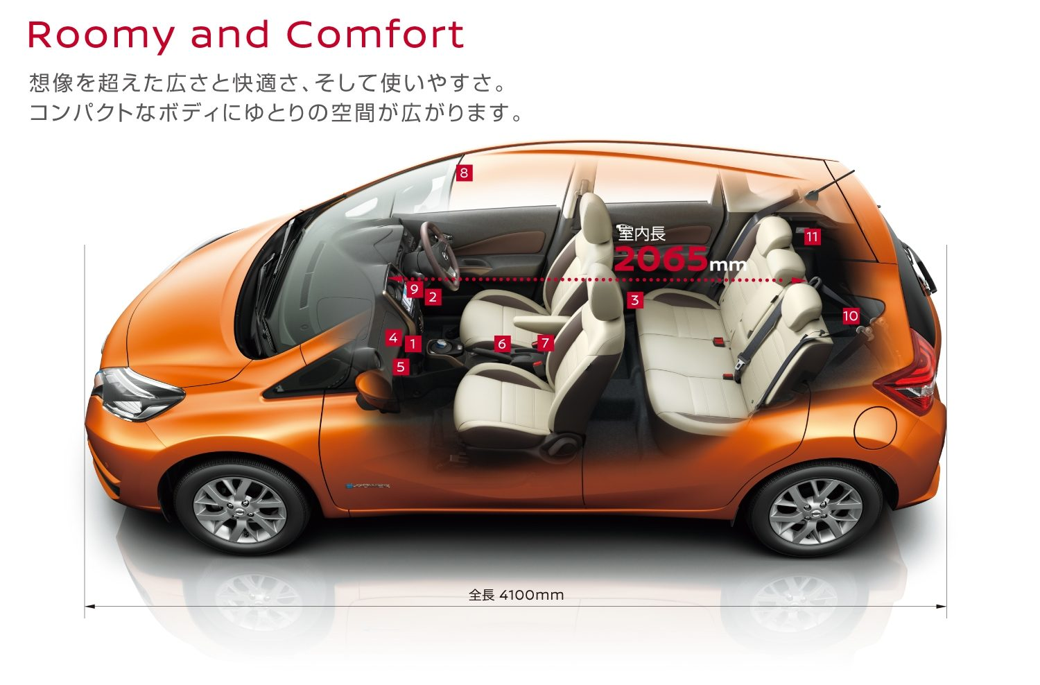 ROOMY AND COMFORT