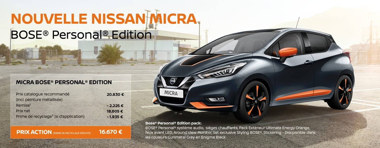 promotions nouvelle nissan micra citadine polyvalente nissan. Black Bedroom Furniture Sets. Home Design Ideas