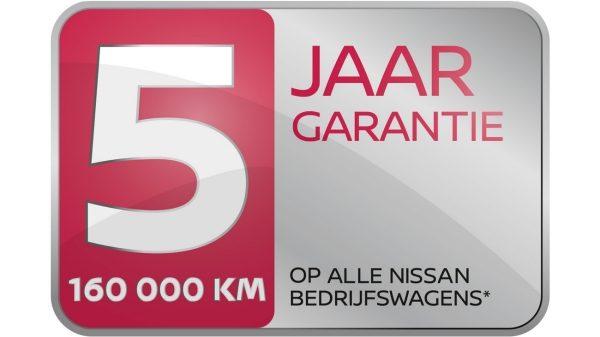 5 jaar garantie op alle Nissan bedrijfswagens