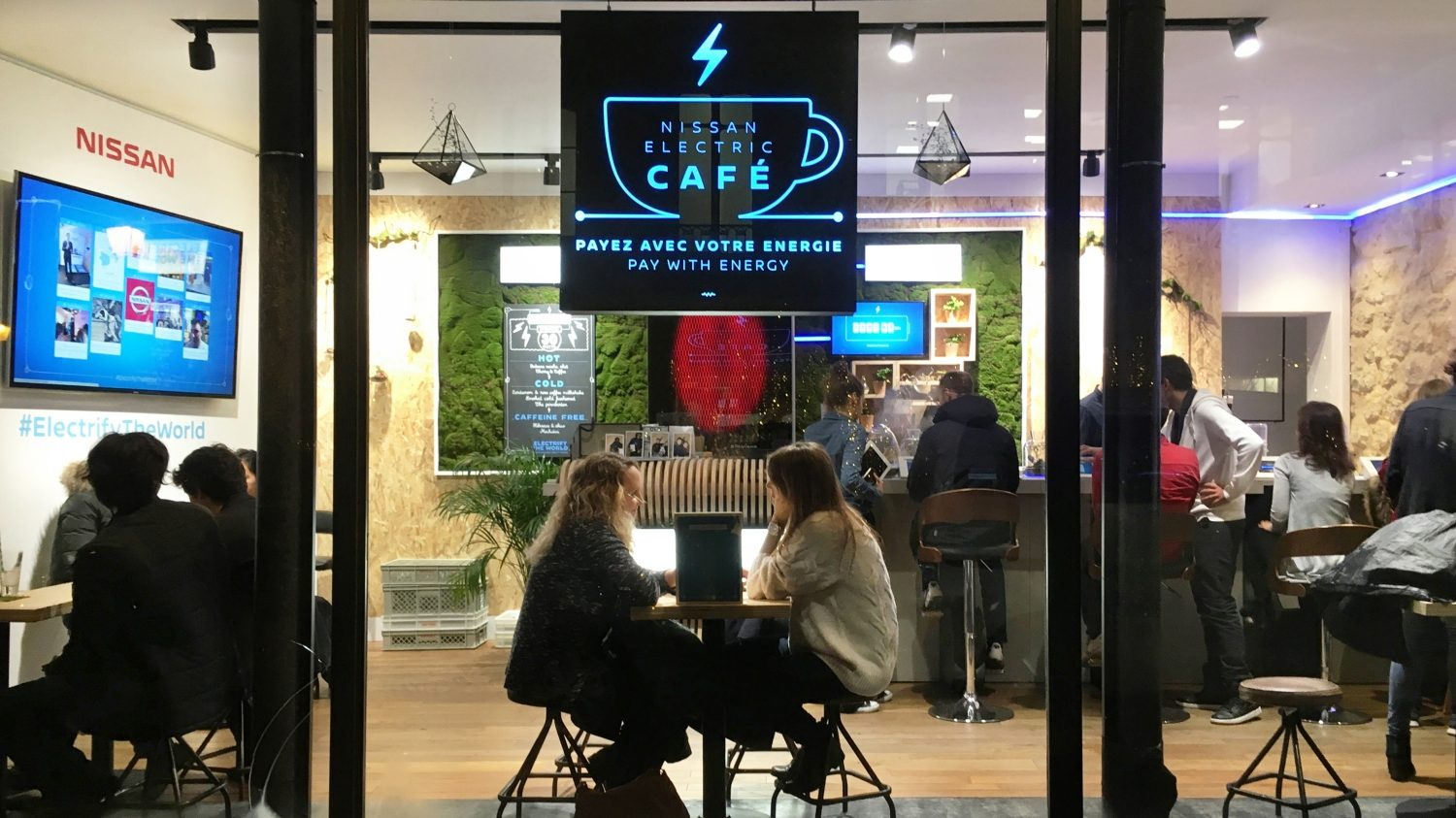 World's First Pay with Energy Café