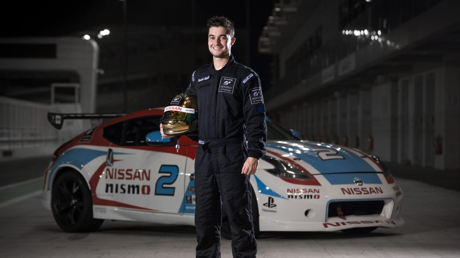 Romain Sarazin, winner of the 2015 European GT Academy