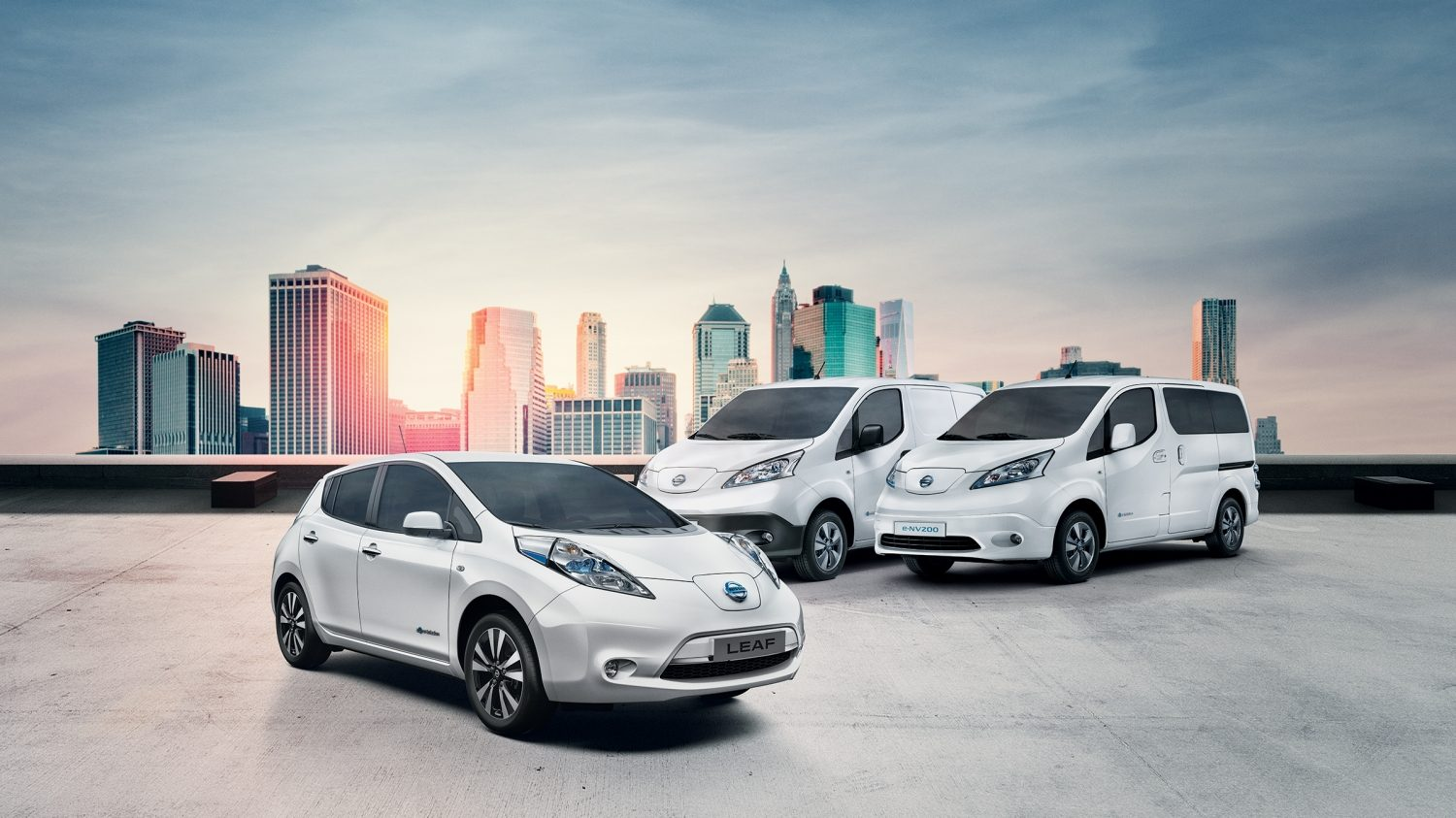 Nissan electric cars range