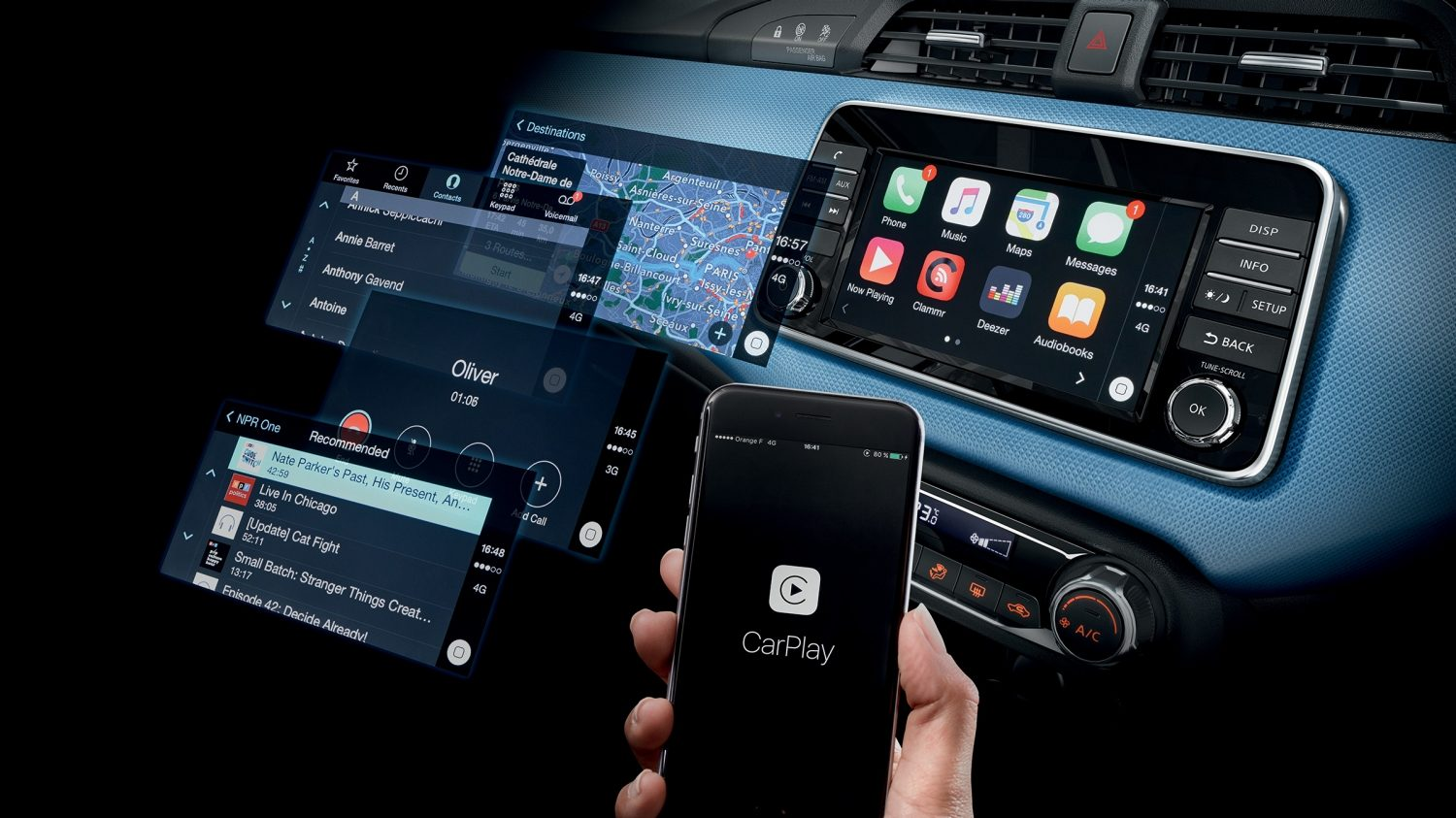 Apple CarPlay® und Android Auto