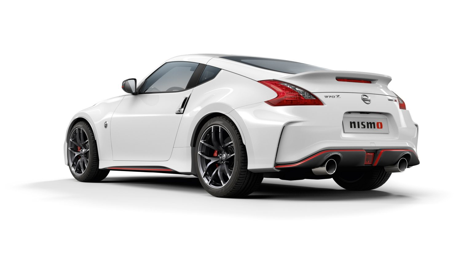 Nissan 370Z Coupé - Pearl White - Vista do extremo posterior