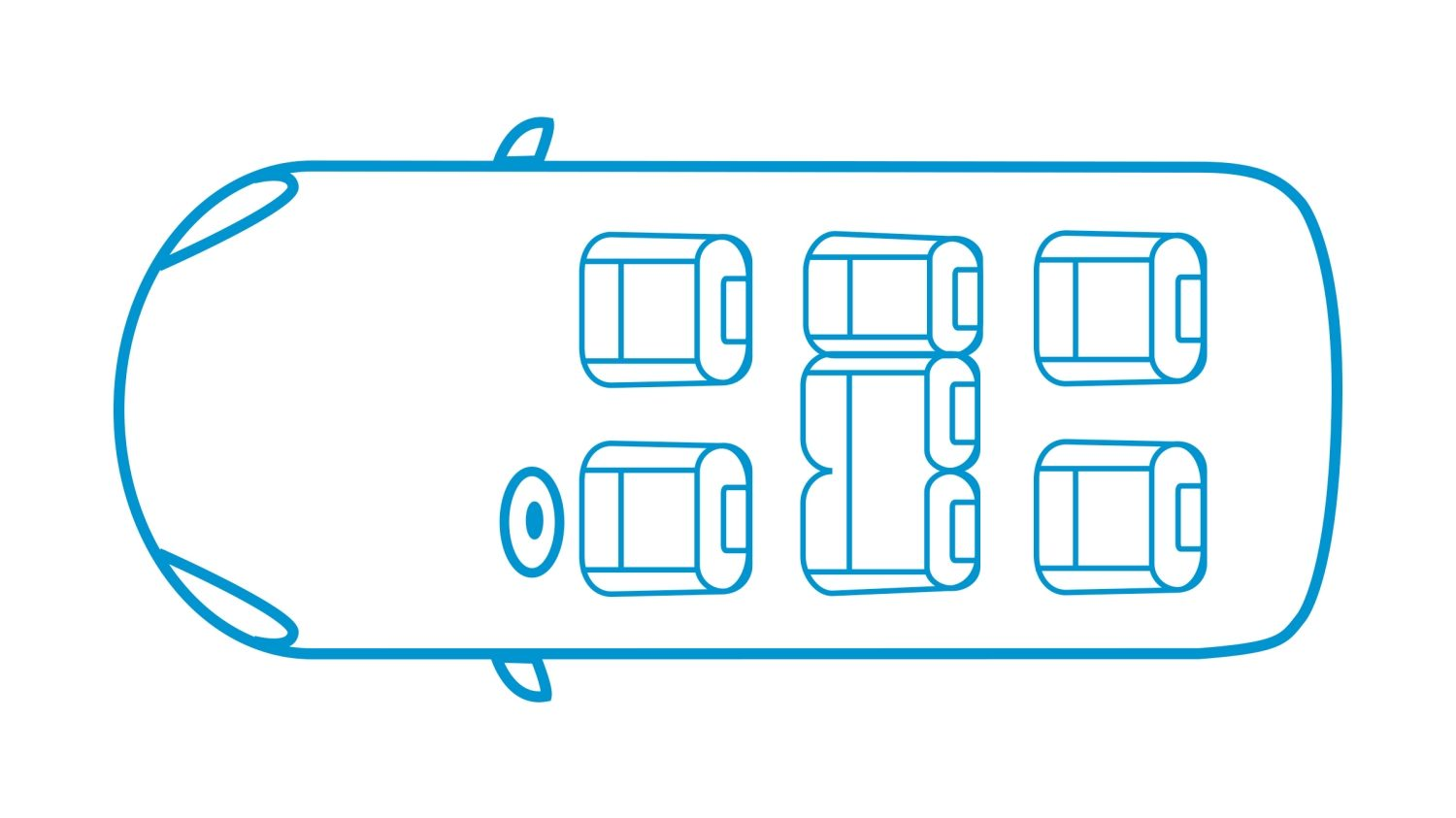 New Nissan e-NV200 EVALIA 7 seats configuration icon