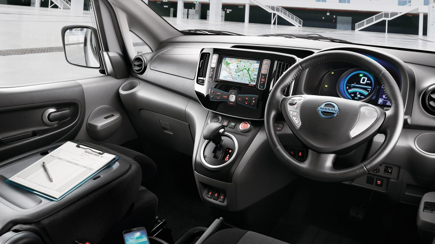 New Nissan e-NV200 VAN interior design