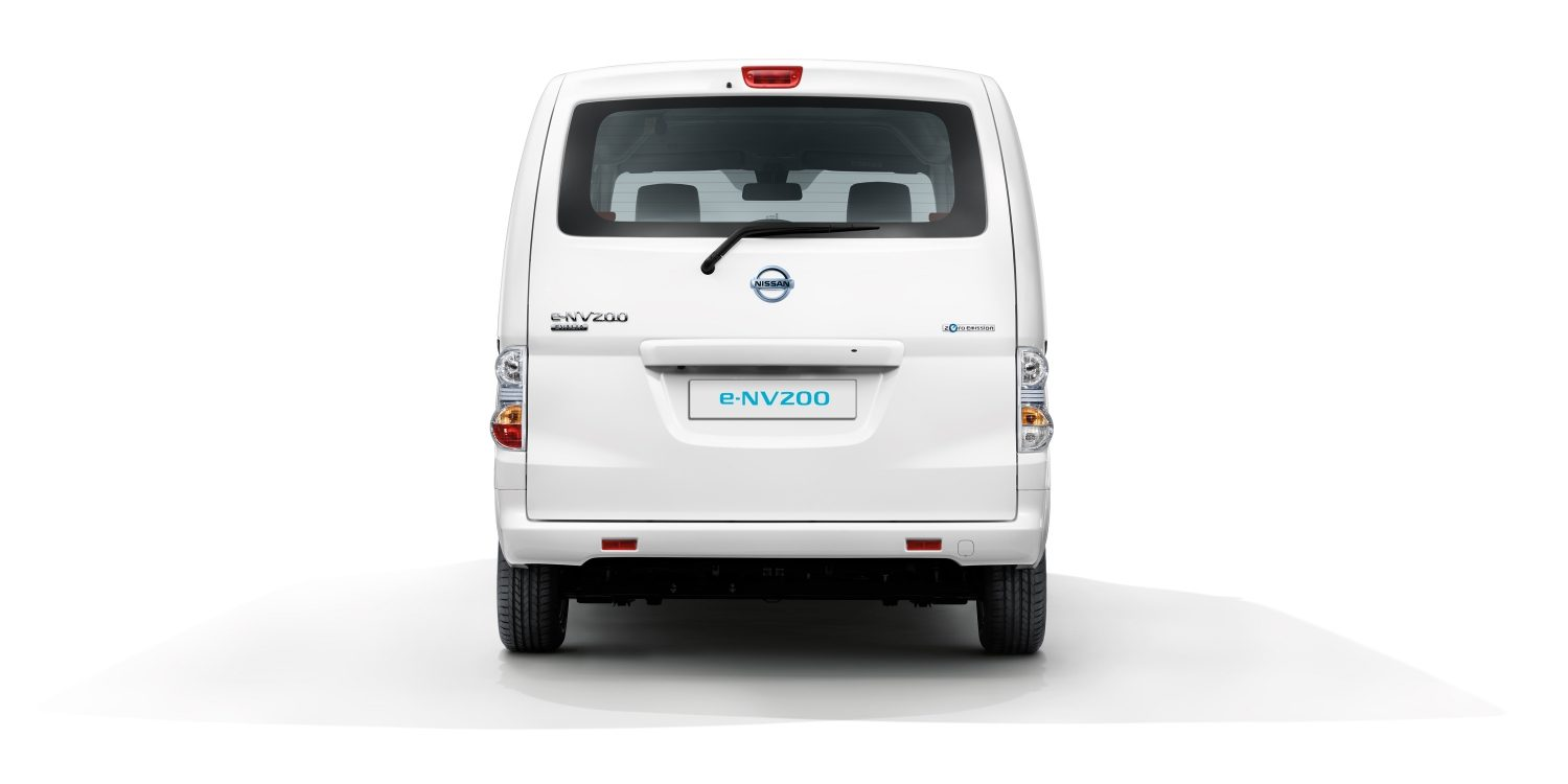 Nissan e-NV200 EVALIA white - Rear view