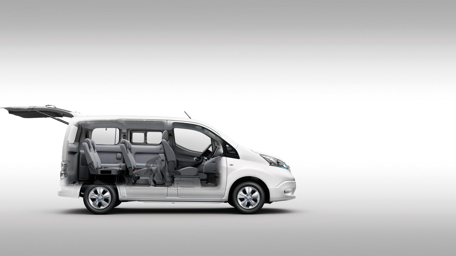 ausstattung nissan e nv200 evalia. Black Bedroom Furniture Sets. Home Design Ideas
