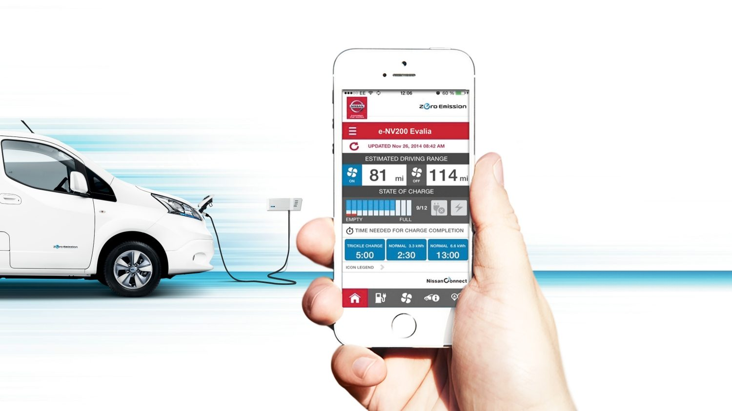Nissan e-NV200 | Combi | The NissanConnect EV app