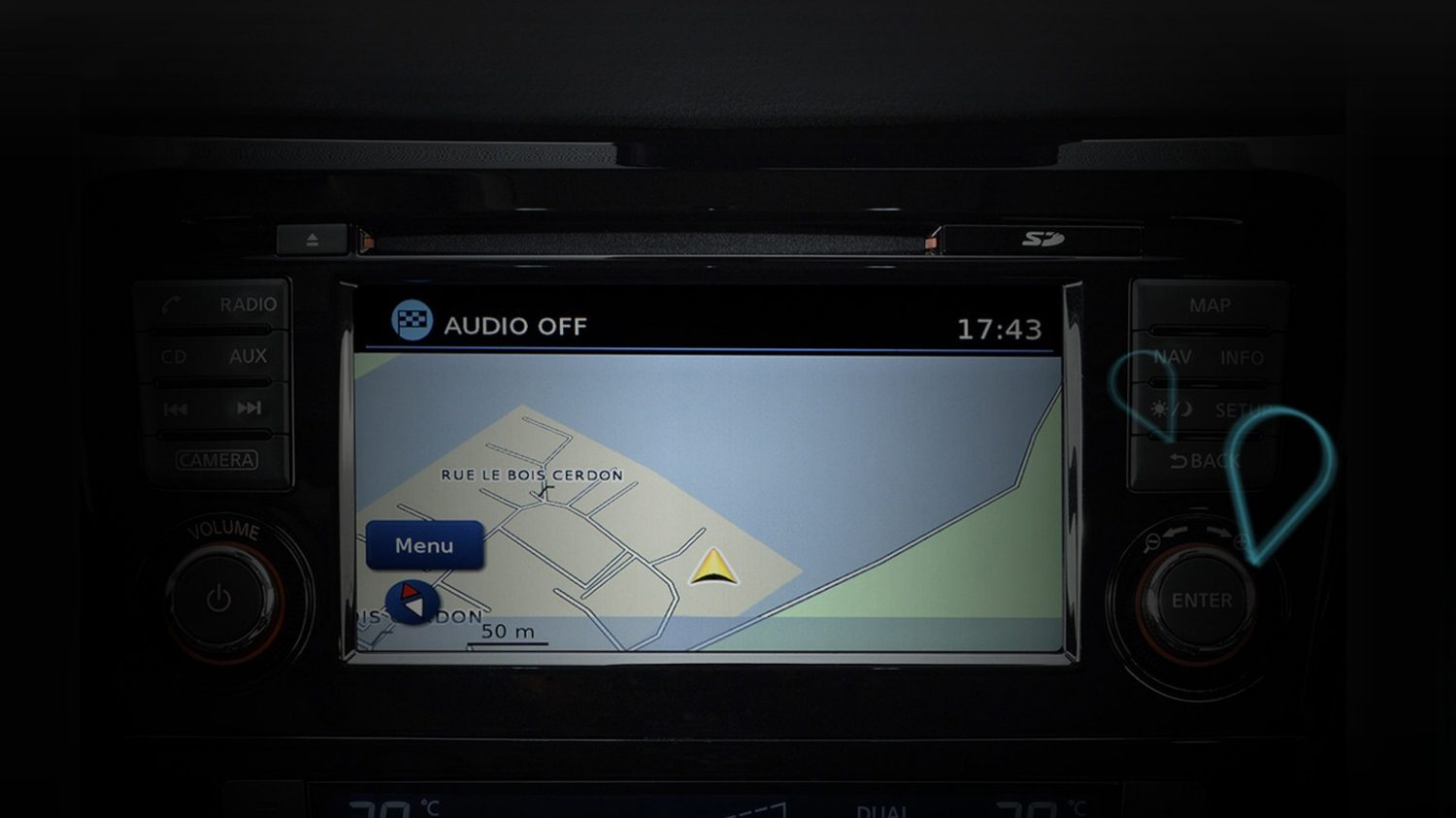 Nissan e-NV200 | Combi | Sat nav display