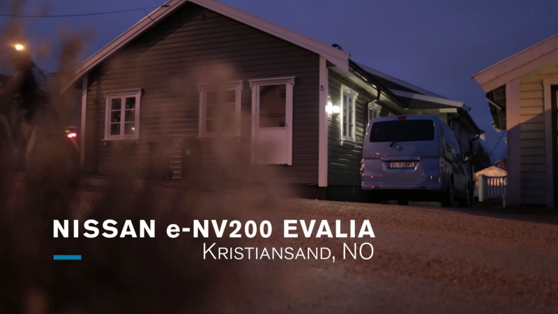Nissan e-NV200 Evalia - Parked on the side of a house