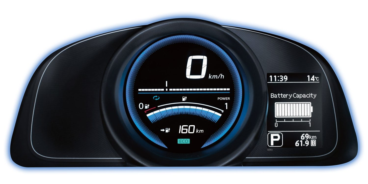 Nissan e-NV200 EVALIA - Close-up van dashboard