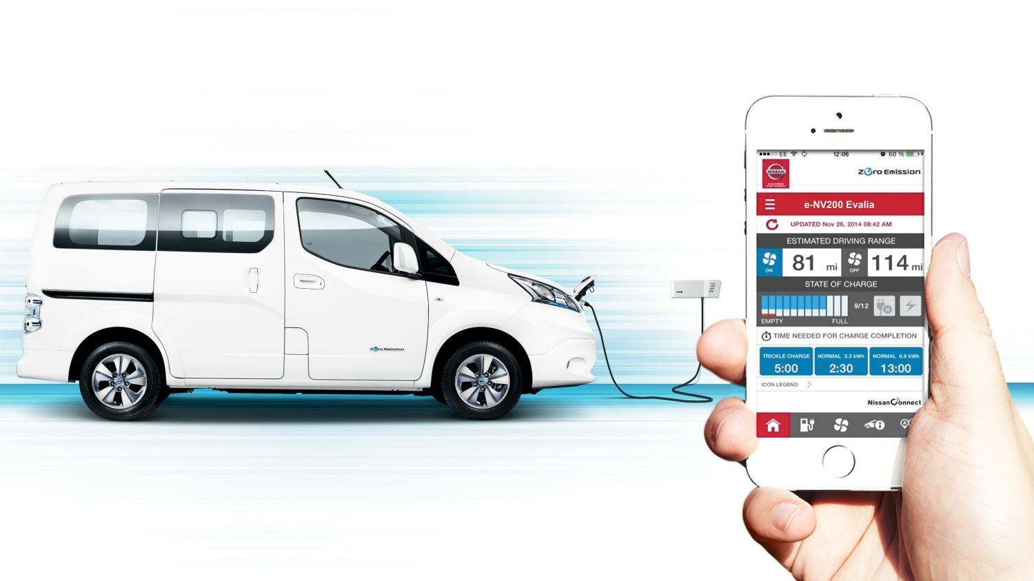 Nissan e-NV200 | Combi | Electric vehicle being charged