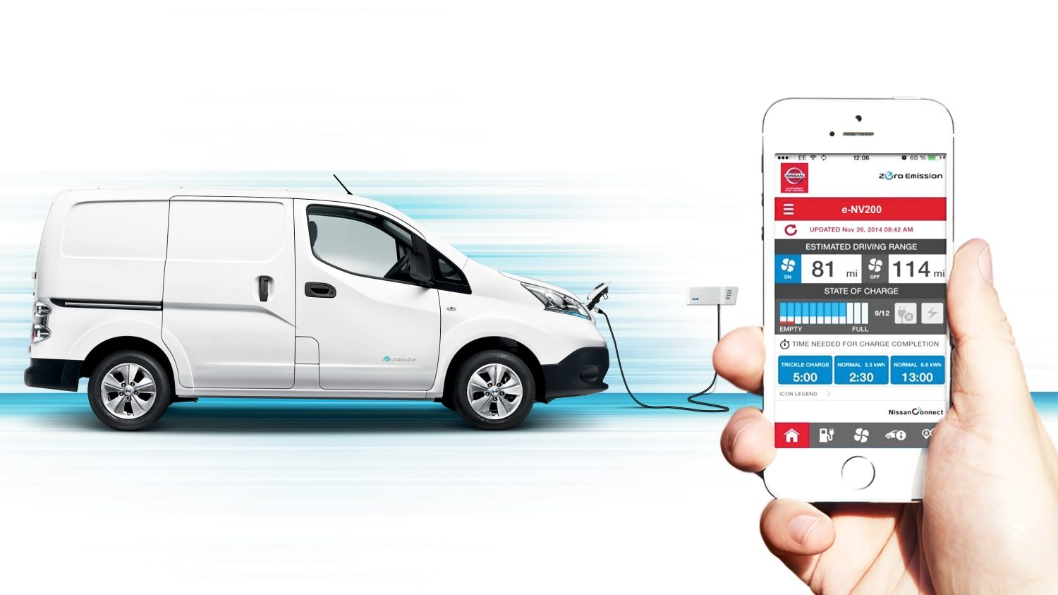 Nissan e-NV200 - Stay connected with your phone