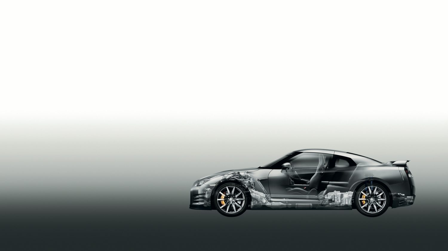 Nissan GT-R - side view of car