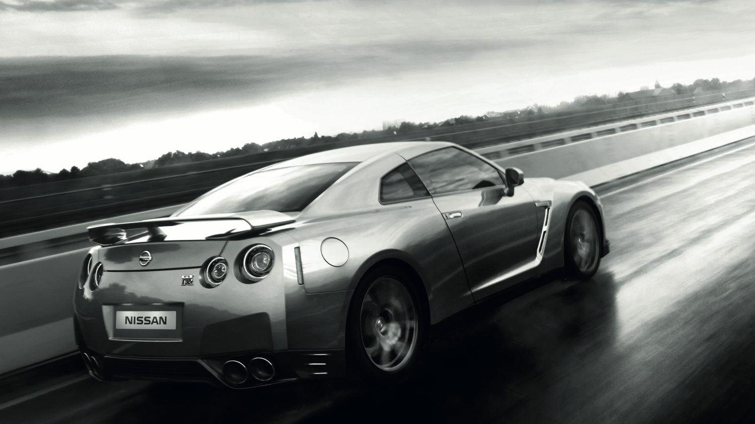Nissan GT-R - car on sleek road