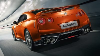 Nissan New GT-R rear shot in tunnel