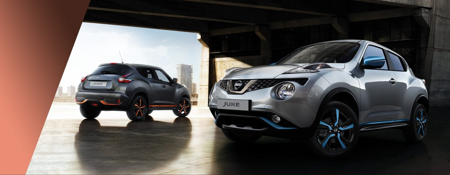 New Nissan Juke 3/4 front and 3/4 rear