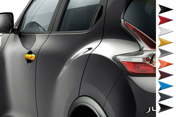 Nissan Juke - Personalisation - Door handle covers san diego yellow