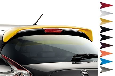 Nissan Juke - Personalisation - Roof spoiler san diego yellow