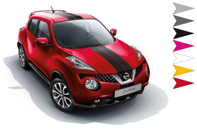 Nissan Juke - Exterior - 2 sporty stripes - black