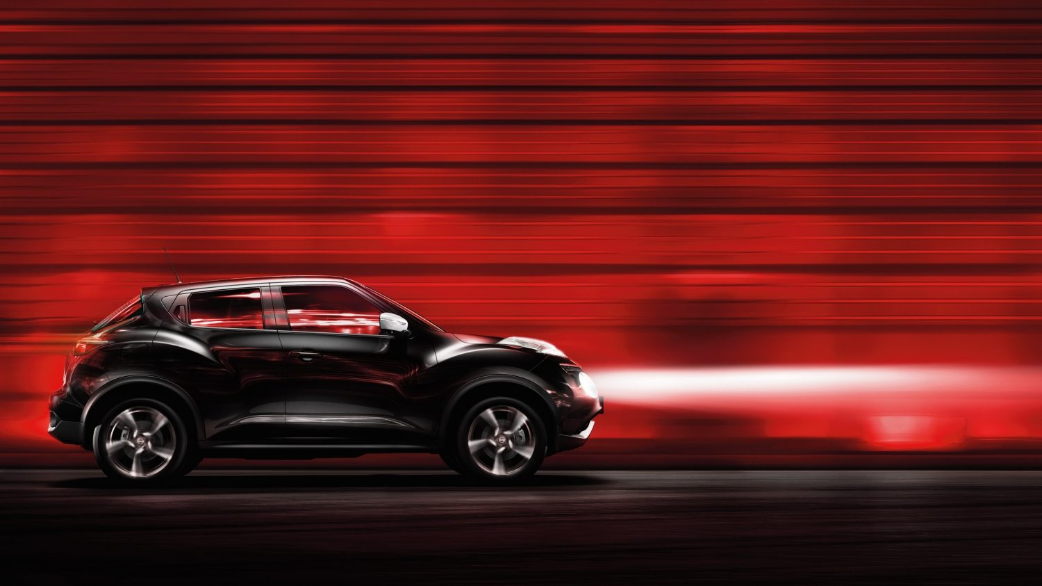 Nissan Juke sort – set i profil