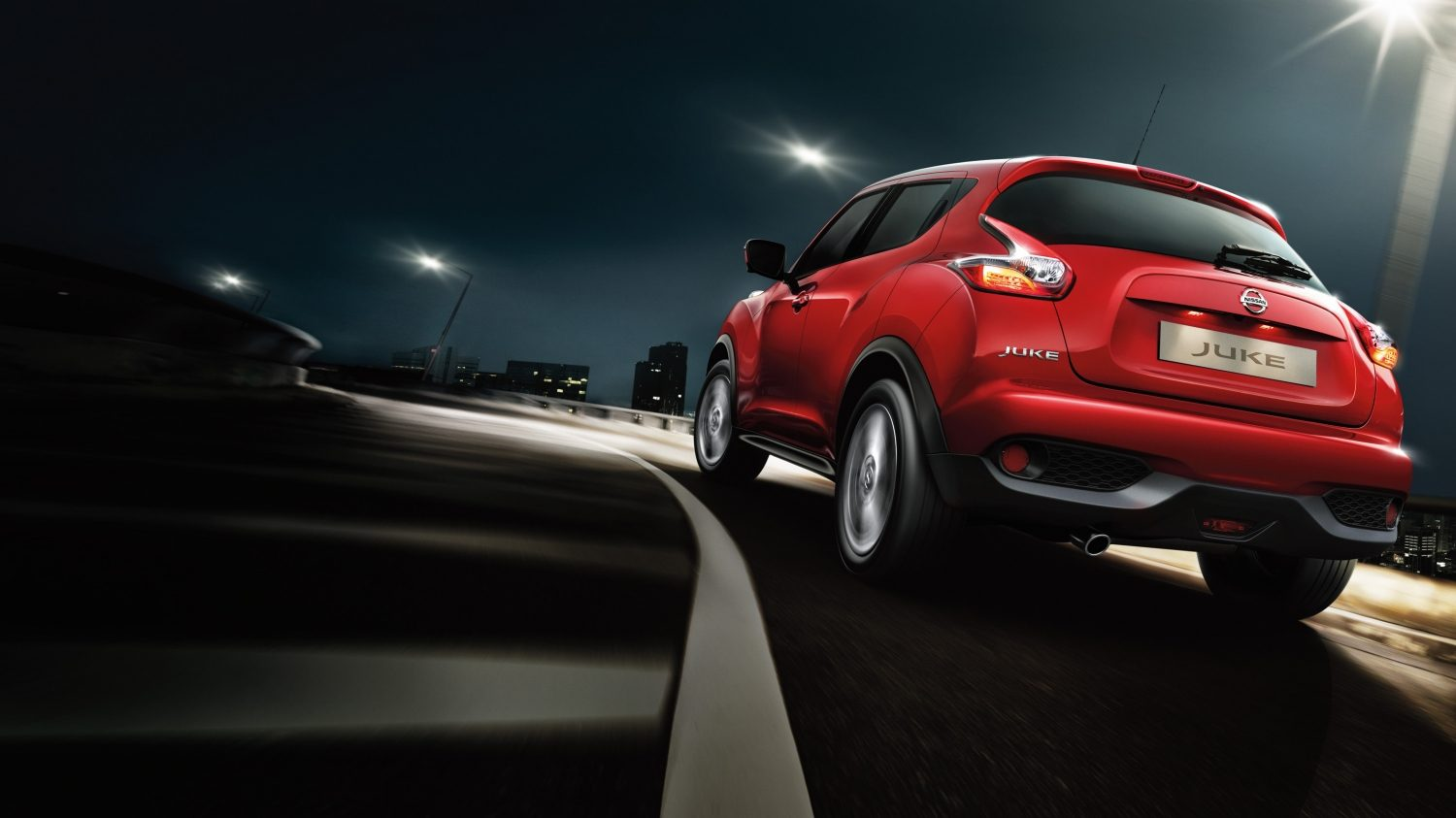Nissan Juke dark red - compact crossover