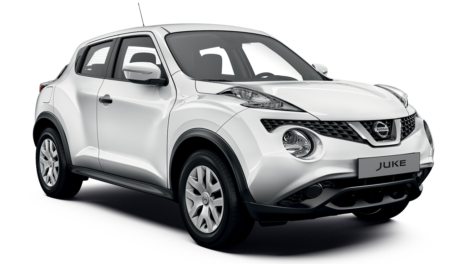 Nissan JUKE white - side view