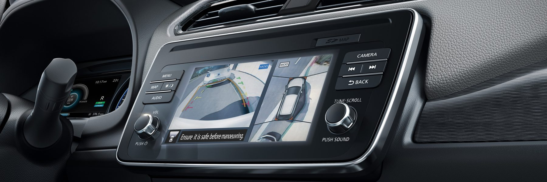 Nieuwe Nissan LEAF Intelligent Around View Monitor-scherm