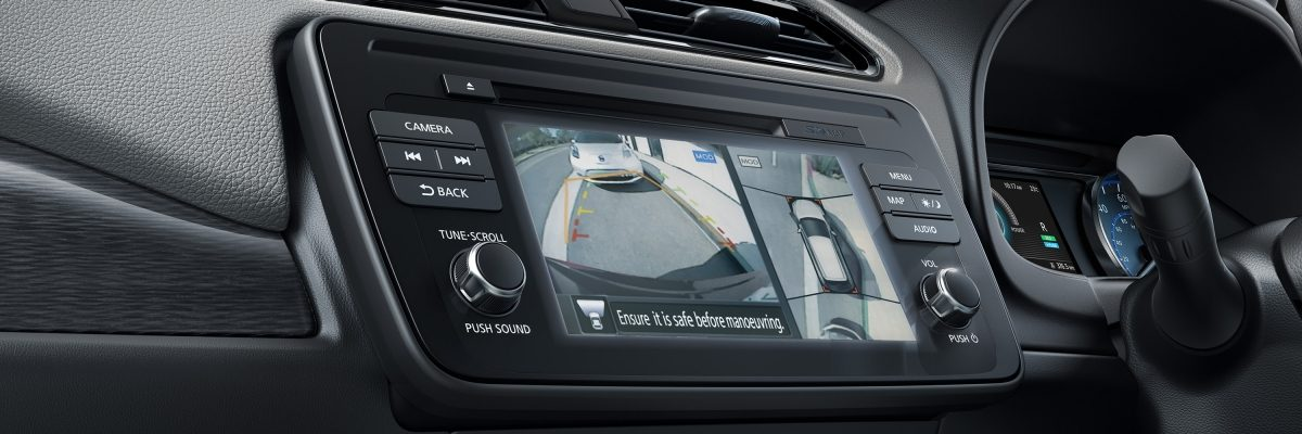 New Nissan LEAF Intelligent Around View Monitor screen