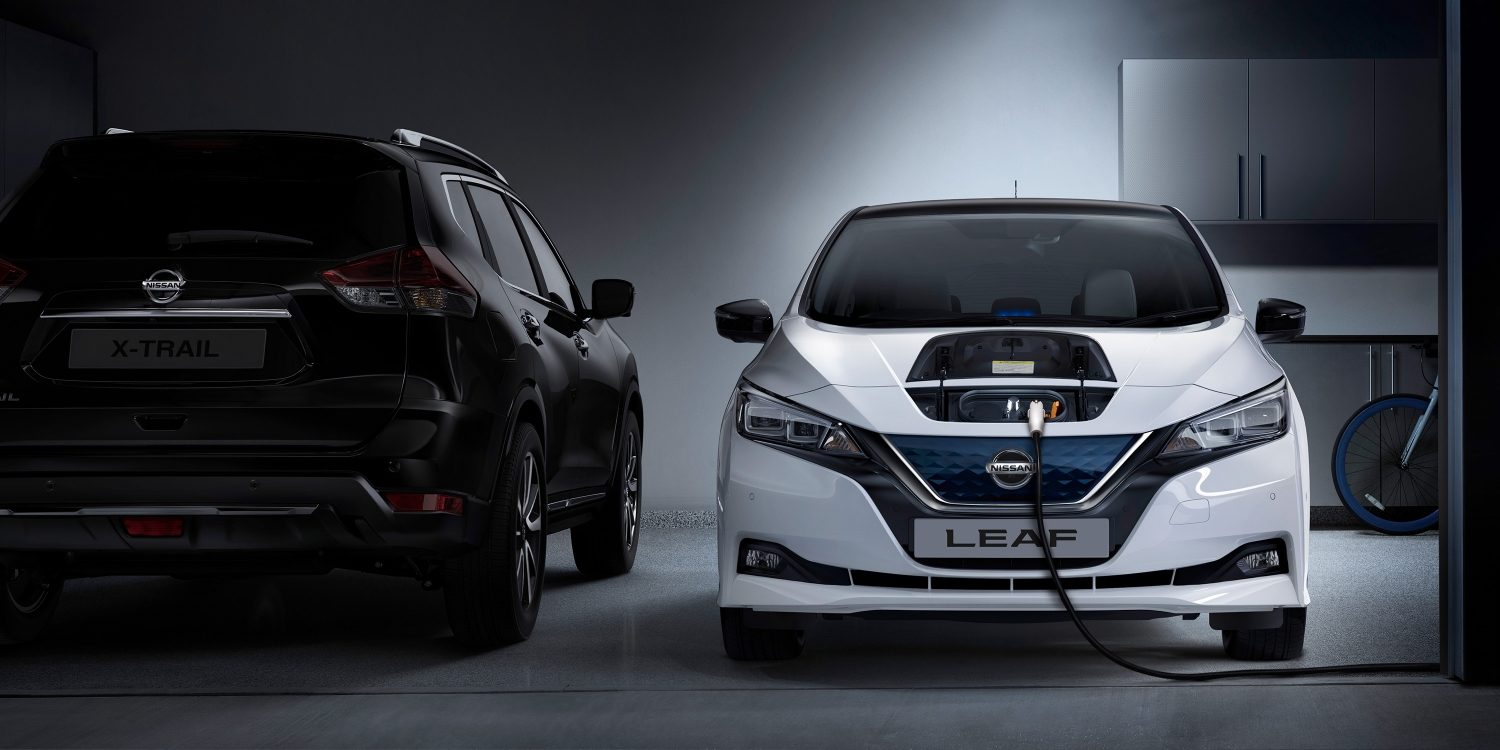 New nissan leaf charging at home