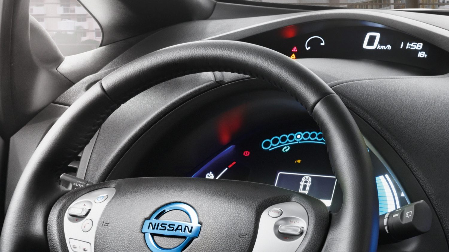 Nissan LEAF Black Edition - Digitaal dashboard