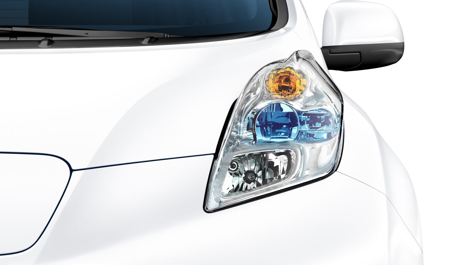 Nissan LEAF - Close-up van LED-koplamp